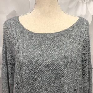 American Eagle Outfitters Sweaters - American Eagle Gray/Black Ombré Sweater XL